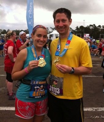 Preston and I after I completed my first half marathon