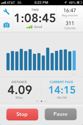 4.09 miles in honor of the victims of the Boston Marathon bombing