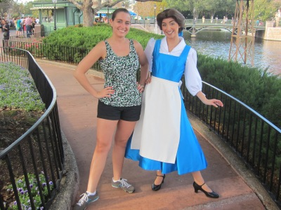 I can't wait to be in my running gear the next time I get my picture taken with Belle!