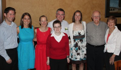 The whole family together in Illinois celebrating Mom and Dad's 30th Anniversary
