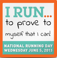 My current running mindset - I know I can do it and I'm proving to myself that I can!