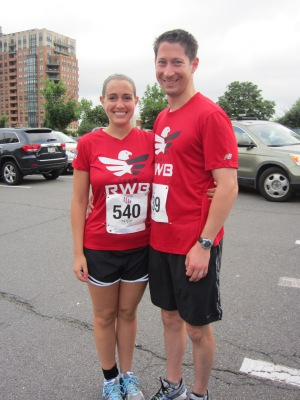 Preston and I ready for the start of our third 5K of 2013
