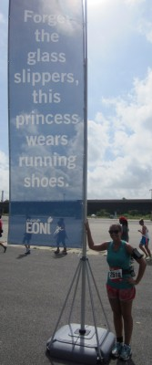 """Forget the glass slippers, this princess wears running shoes."""