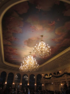 Inside the ballroom at Be Our Guest