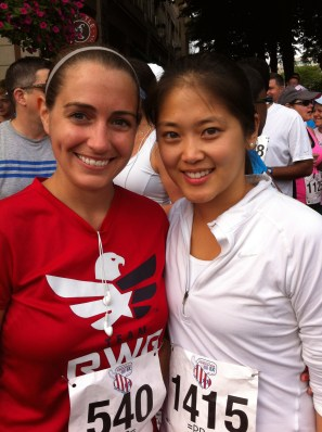 Jen and I at the start line, ready to go!