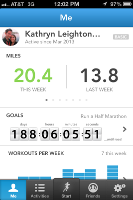 20.37 miles in one week!