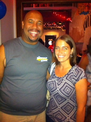 At Penn Social with Michael Dorsey, who lost 136 pounds on Season 14 of the Biggest Loser