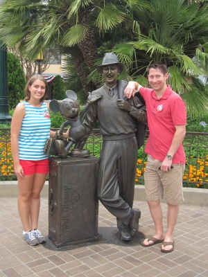 Visiting with Walt and Mickey at Disney's California Adventure