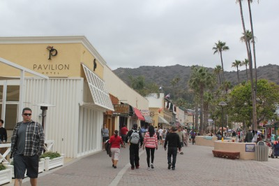 Walking through the streets of Avalon on Catalina Island