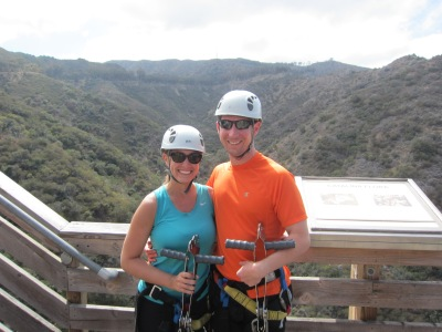During our Zipline Tour