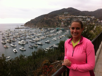 Looking out over Avalon Harbor during our hike