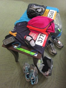 Two runners worth of race gear