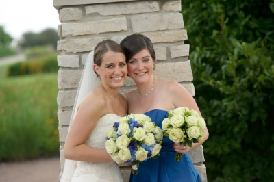 Linda and I on my wedding day, July 30, 2011 Photo Credit: Romine Weddings