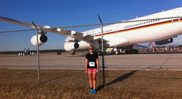 At the Dulles Day 5K on the Runway