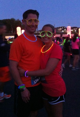 Preston and I ready for the Electric Run