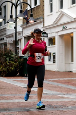 On the Historic Downtown Charlottesville  Mall, just before the finish line Photo Credit: Competition Imaging