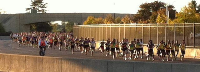 The elite runners kicking off the start of the 29th Annual Army Ten Miler