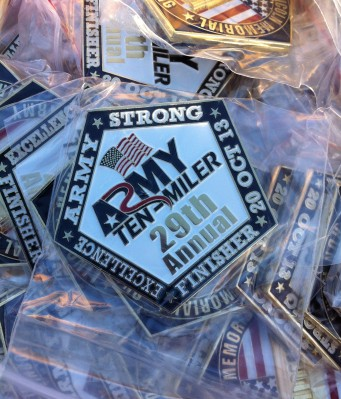 The 29th Annual Army Ten Miler Finisher's Coin