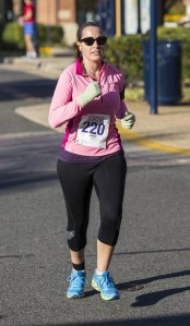 Nearing the finish line.  Can you see the pain in my face? Photo Credit: Potomac River Running