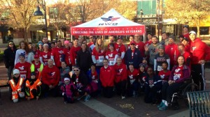 Team RWB before the start of the race Photo Credit: Team Red, White & Blue