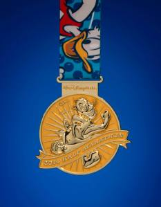 Throughout my training I've been keeping my eye on the prize - the Donald medal that I'll receive once I finish my first half marathon Photo Credit: runDisney