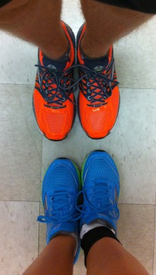 Our current running shoes