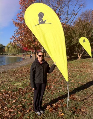 Before the start of Saturday's St. Jude Give Thanks Walk, which I walked in memory of my friend Tammy