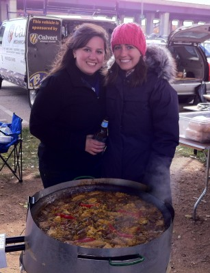 Despite the 30 degree weather and high winds, Sunday's Raven's tailgate and paella feast was a blast!