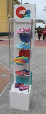 The 2014 New Balance runDisney shoe lineup includes Pink Minnie and Cinderella for women, Goofy and Sorcerer Mickey and Goofy for men, and Pink Minnie and Sorcerer Mickey for kids
