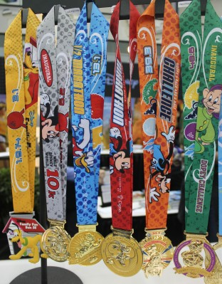 The full lineup of medals for Marathon weekend