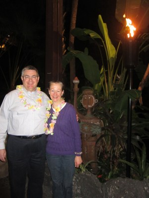 After dinner at 'Ohana with Mom and Dad