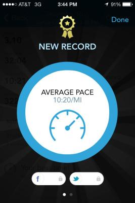 Who would have thought that less than two weeks after running a half marathon that I'd set a 5k PR!