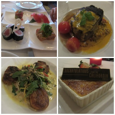 Some of the delicious food we enjoyed at California Grill