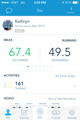 I ran over 67 miles in the month of December, which is my highest monthly mileage to date!