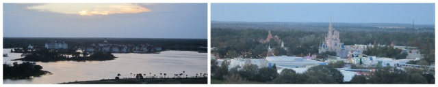 Our views of the Grand Floridian and Magic Kingdom during dinner