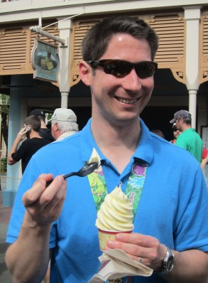 Preston and his celebratory Dole Whip
