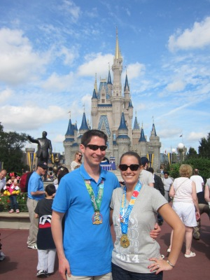 Celebrating our last day of Marathon Weekend at Magic Kingdom