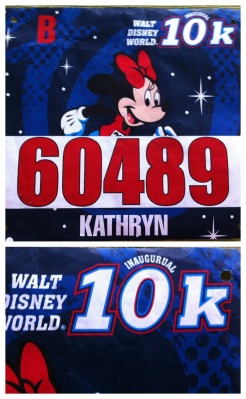 "My 10k bib with ""Inaugural"" misspelled"