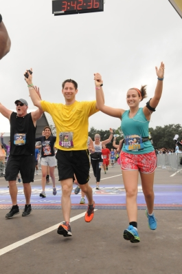 Crossing the finish line of my first half marathon was one of the most amazing feelings of accomplishment that I've ever felt! Photo Credit: MarathonFoto