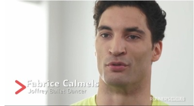 Joffrey Ballet dancer Fabrice Calmels took up running as a way to improve his dance abilities both in the studio and on stage. Photo Credit: Runner's World
