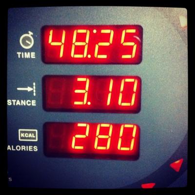 It felt unbelievably good to walk a 5k on the treadmill on Thursday