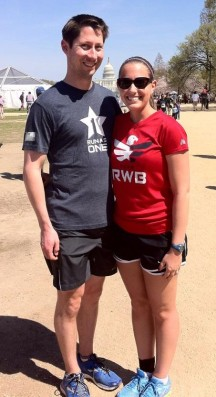 On the National Mall before the start of Run As One
