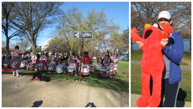 Hearing the Brazilian drumline and seeing Elmo not only brought a smile to my face but helped keep my energy level high as I headed towards Hains Point