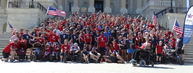 On the steps of the U.S. Capitol during Saturday's Run As One
