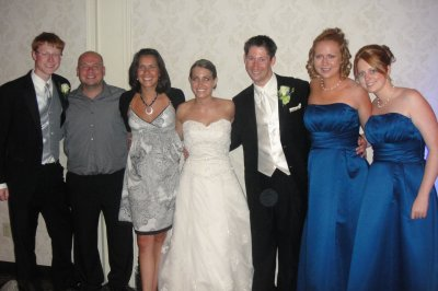 Preston and I with his siblings and cousins at our wedding in 2011