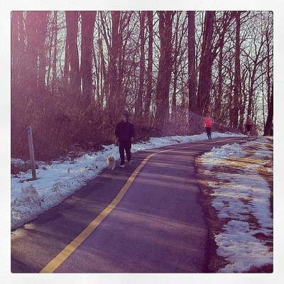 On the W OD Trail back in February