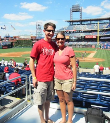 At a Phillies game a couple summers ago