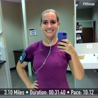 Nice and sweaty after Thursday evening's run