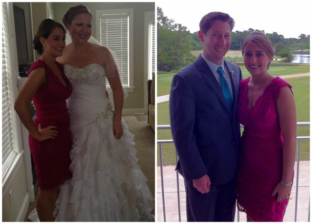 With my sister-in-law before the wedding, and with Preston during cocktail hour