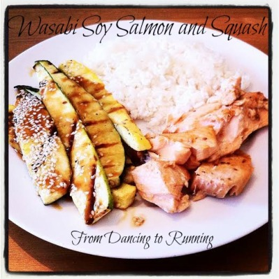 salmon and squash
